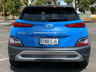 2020 Hyundai Kona Os.v4 MY21 Highlander 2WD Surfy Blue + Black R 8 Speed Constant Variable Wagon