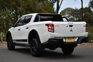2018 Mitsubishi Triton MQ MY18 Blackline Double Cab White 6 Speed Manual Utility
