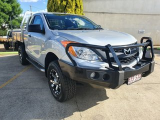 2012 Mazda BT-50 UP0YF1 XT Freestyle 4x2 Hi-Rider Silver 6 Speed Manual Cab Chassis.