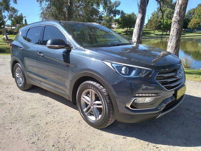 Used Hyundai Santa Fe DM3 MY17 Active Wodonga, 2017 Hyundai Santa Fe DM3 MY17 Active Grey 6 Speed Sports Automatic Wagon