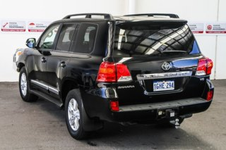 2015 Toyota Landcruiser VDJ200R MY13 Sahara Black Mica 6 Speed Sports Automatic Wagon.