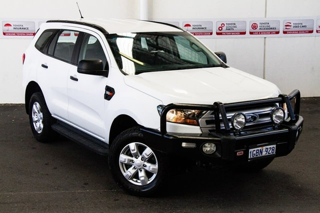 Pre-Owned Ford Everest UA Ambiente Rockingham, 2015 Ford Everest UA Ambiente White 6 Speed Automatic Wagon