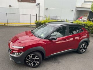 2020 Hyundai Kona Os.v4 MY21 Highlander 2WD Pulse Red & Black Roof 8 Speed Constant Variable Wagon.