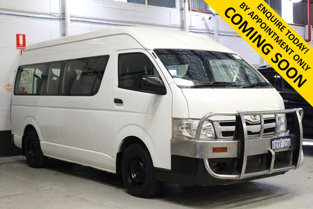 Used Toyota HiAce KDH223R MY12 Upgrade Commuter Bentley, 2012 Toyota HiAce KDH223R MY12 Upgrade Commuter White 4 Speed Automatic Bus