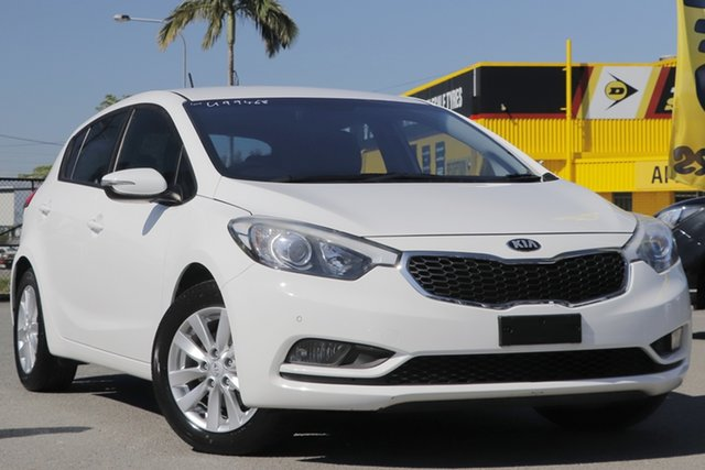 Used Kia Cerato YD MY16 S Premium Rocklea, 2015 Kia Cerato YD MY16 S Premium Clear White 6 Speed Sports Automatic Hatchback
