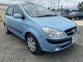 2010 Hyundai Getz TB MY09 S Sky Blue 4 Speed Automatic Hatchback.