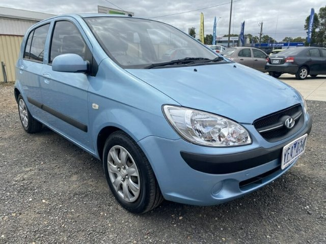 Used Hyundai Getz TB MY09 S Melton, 2010 Hyundai Getz TB MY09 S Sky Blue 4 Speed Automatic Hatchback