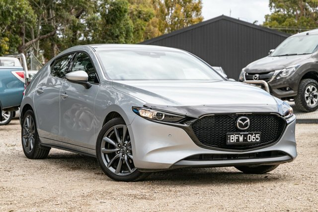 Used Mazda 3 BP2H7A G20 SKYACTIV-Drive Touring Mornington, 2019 Mazda 3 BP2H7A G20 SKYACTIV-Drive Touring Sonic Silver 6 Speed Sports Automatic Hatchback