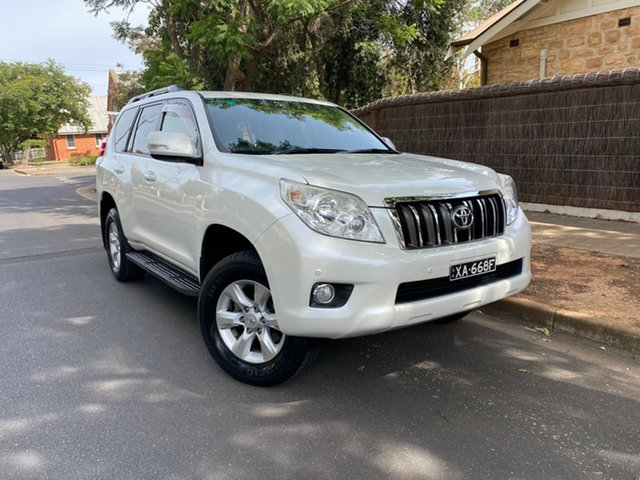 Pre-Owned Toyota Landcruiser Prado KDJ150R Altitude Hawthorn, 2012 Toyota Landcruiser Prado KDJ150R Altitude Crystal White 5 Speed Sports Automatic Wagon