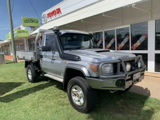 2014 Toyota Landcruiser VDJ79R MY12 Update GX (4x4) Silver 5 Speed Manual Cab Chassis.