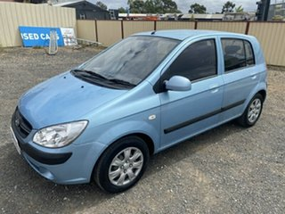 2010 Hyundai Getz TB MY09 S Sky Blue 4 Speed Automatic Hatchback