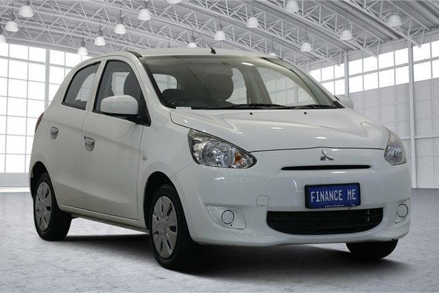 Used Mitsubishi Mirage LA MY15 ES Victoria Park, 2014 Mitsubishi Mirage LA MY15 ES White 5 Speed Manual Hatchback
