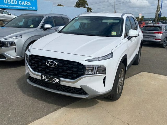 Demo Hyundai Santa Fe Tm.v3 MY21 Active DCT Melton, 2020 Hyundai Santa Fe Tm.v3 MY21 Active DCT White Cream 8 Speed Sports Automatic Dual Clutch Wagon