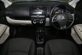 2014 Mitsubishi Mirage LA MY15 ES White 5 Speed Manual Hatchback