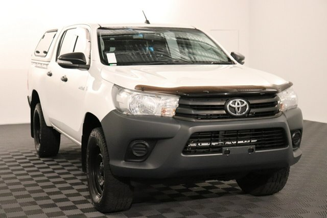 Used Toyota Hilux GUN125R Workmate Double Cab Acacia Ridge, 2017 Toyota Hilux GUN125R Workmate Double Cab Glacier 6 speed Automatic Utility