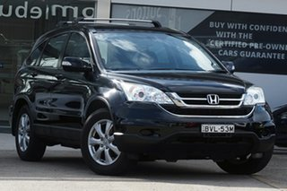 2010 Honda CR-V RE MY2010 Limited Edition 4WD Black 6 Speed Manual Wagon.
