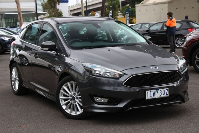 Used Ford Focus LZ Sport South Melbourne, 2016 Ford Focus LZ Sport Magnetic 6 Speed Automatic Hatchback