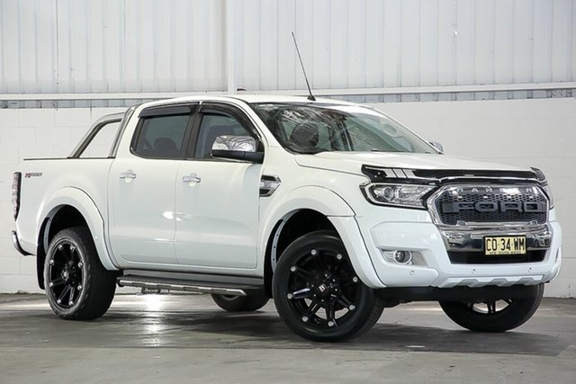 Used Ford Ranger PX MkII 2018.00MY XLT Double Cab 4x2 Hi-Rider West Gosford, 2017 Ford Ranger PX MkII 2018.00MY XLT Double Cab 4x2 Hi-Rider White 6 Speed Sports Automatic