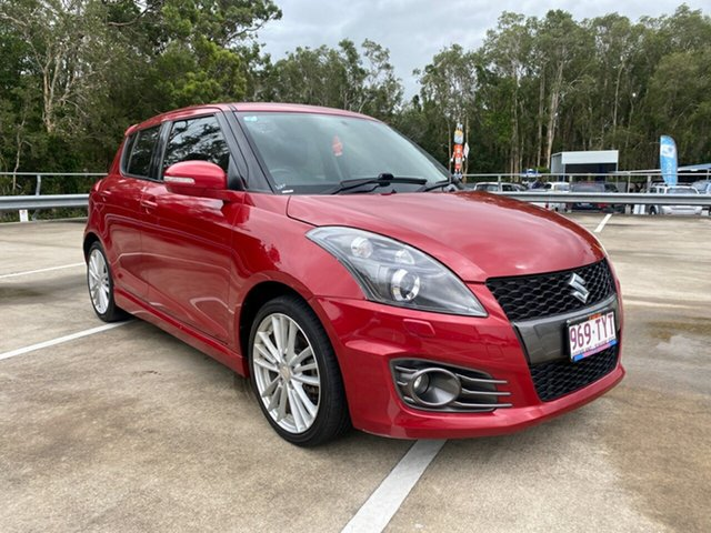 Used Suzuki Swift FZ Sport Morayfield, 2013 Suzuki Swift FZ Sport Red 7 Speed CVT Auto Sequential Hatchback