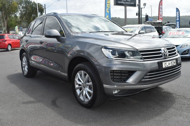 Used Volkswagen Touareg 7P MY15 V6 TDI Tiptronic 4MOTION Gosford, 2015 Volkswagen Touareg 7P MY15 V6 TDI Tiptronic 4MOTION Grey 8 Speed Sports Automatic Wagon
