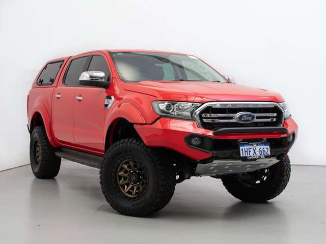 Used Ford Ranger PX MkIII MY19 XLT 3.2 (4x4), 2019 Ford Ranger PX MkIII MY19 XLT 3.2 (4x4) Red 6 Speed Automatic Double Cab Pick Up