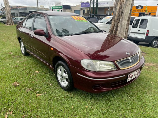 Used Nissan Pulsar N16 Q Clontarf, 2002 Nissan Pulsar N16 Q Maroon 5 Speed Manual Sedan