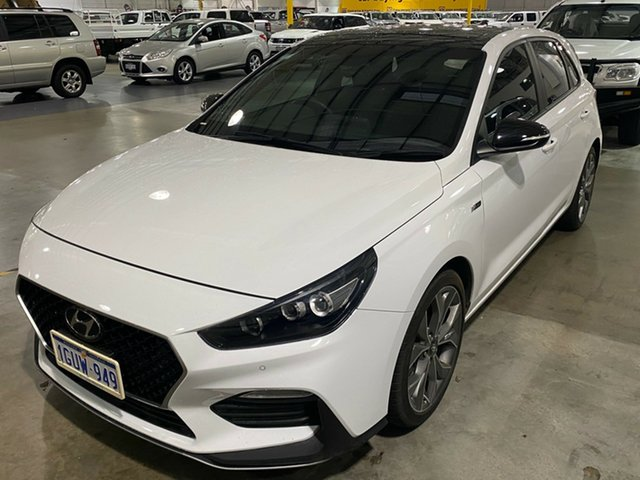 Used Hyundai i30 PD.3 MY19 N Line D-CT Premium Edgewater, 2019 Hyundai i30 PD.3 MY19 N Line D-CT Premium White 7 Speed Sports Automatic Dual Clutch Hatchback