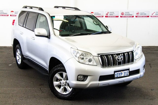Pre-Owned Toyota Landcruiser Prado KDJ150R 11 Upgrade GXL (4x4) Myaree, 2012 Toyota Landcruiser Prado KDJ150R 11 Upgrade GXL (4x4) Silver Pearl 5 Speed Sequential Auto