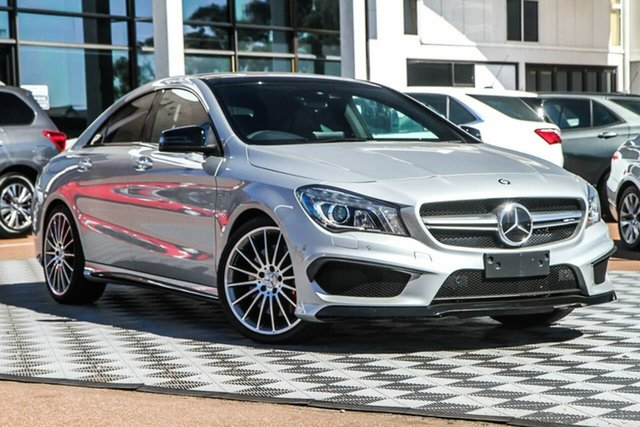 Used Mercedes-Benz CLA-Class C117 805+055MY CLA45 AMG SPEEDSHIFT DCT 4MATIC Attadale, 2015 Mercedes-Benz CLA-Class C117 805+055MY CLA45 AMG SPEEDSHIFT DCT 4MATIC Polar Silv 7 Speed
