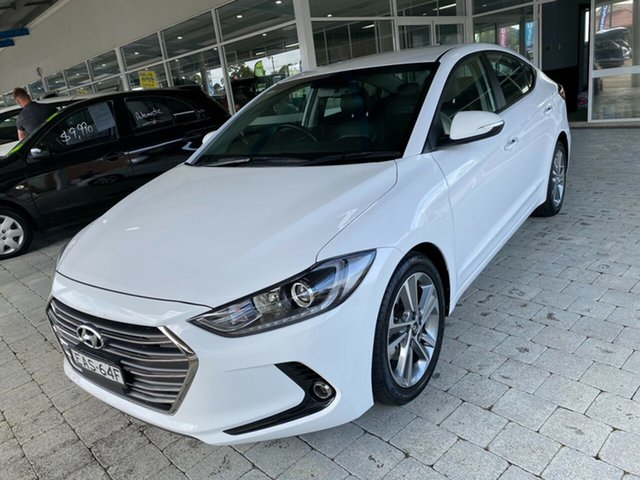 Used Hyundai Elantra Elite Taree, 2018 Hyundai Elantra Elite White Sports Automatic Sedan