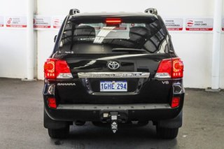 2015 Toyota Landcruiser VDJ200R MY13 Sahara Black Mica 6 Speed Sports Automatic Wagon