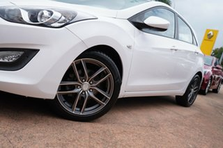 2013 Hyundai i30 GD Active 1.6 CRDi White 6 Speed Manual Hatchback.