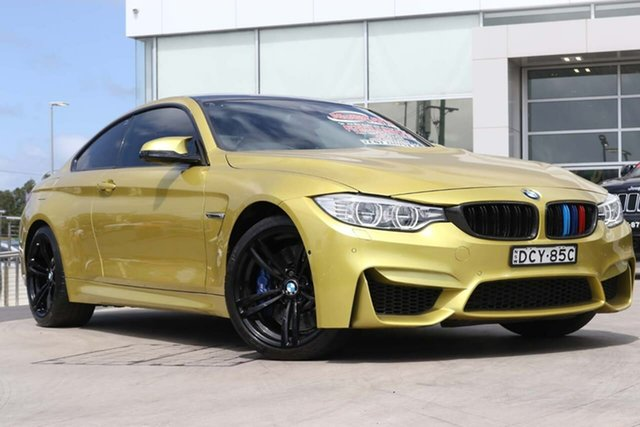 Used BMW M4 F82 M-DCT Liverpool, 2014 BMW M4 F82 M-DCT Austin Yellow 7 Speed Sports Automatic Dual Clutch Coupe