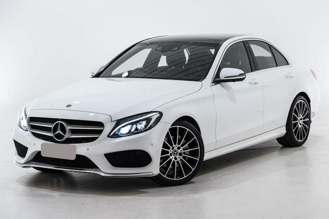Used Mercedes-Benz C-Class W205 808MY C200 9G-Tronic Berwick, 2018 Mercedes-Benz C-Class W205 808MY C200 9G-Tronic White 9 Speed Sports Automatic Sedan