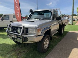 2014 Toyota Landcruiser VDJ79R MY12 Update GX (4x4) Silver 5 Speed Manual Cab Chassis