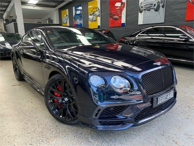 Used Bentley Continental 3W Supersports Glebe, 2017 Bentley Continental 3W Supersports Blue Sports Automatic Coupe