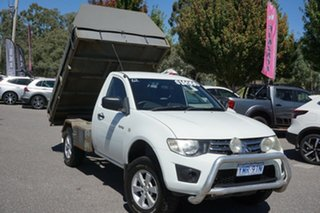 2010 Mitsubishi Triton MN MY10 GLX White 5 Speed Manual Cab Chassis
