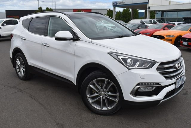 Used Hyundai Santa Fe DM3 MY17 Highlander Essendon Fields, 2017 Hyundai Santa Fe DM3 MY17 Highlander White 6 Speed Sports Automatic Wagon