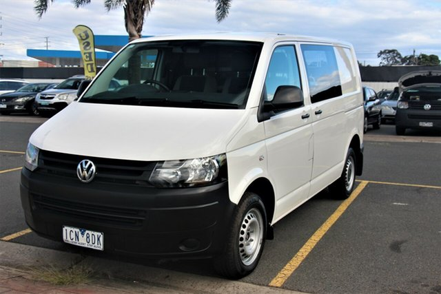 Used Volkswagen Transporter T5 MY14 TDI340 SWB DSG Cheltenham, 2014 Volkswagen Transporter T5 MY14 TDI340 SWB DSG White 7 Speed Sports Automatic Dual Clutch Van
