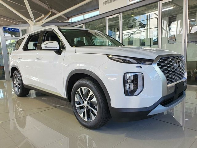 New Hyundai Palisade LX2.V1 MY21 AWD Mount Gravatt, 2021 Hyundai Palisade LX2.V1 MY21 AWD White Cream 8 Speed Sports Automatic Wagon