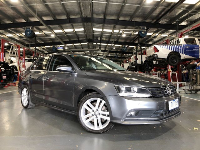 Pre-Owned Volkswagen Jetta 1B MY15 118TSI DSG Highline Oakleigh, 2015 Volkswagen Jetta 1B MY15 118TSI DSG Highline Grey 7 Speed Sports Automatic Dual Clutch Sedan