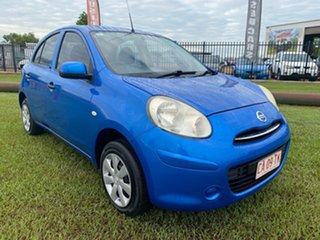 2011 Nissan Micra K13 ST Blue 4 Speed Automatic Hatchback.