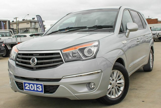 Used Ssangyong Stavic A100 MY13 Coburg North, 2013 Ssangyong Stavic A100 MY13 Silver 5 Speed Sports Automatic Wagon