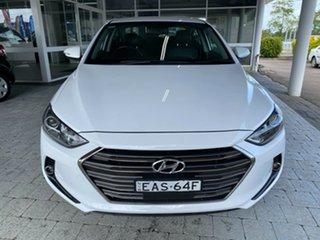 2018 Hyundai Elantra Elite White Sports Automatic Sedan.
