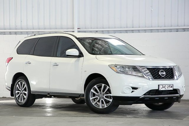 Used Nissan Pathfinder R52 MY14 ST X-tronic 2WD West Gosford, 2013 Nissan Pathfinder R52 MY14 ST X-tronic 2WD White 1 Speed Constant Variable Wagon