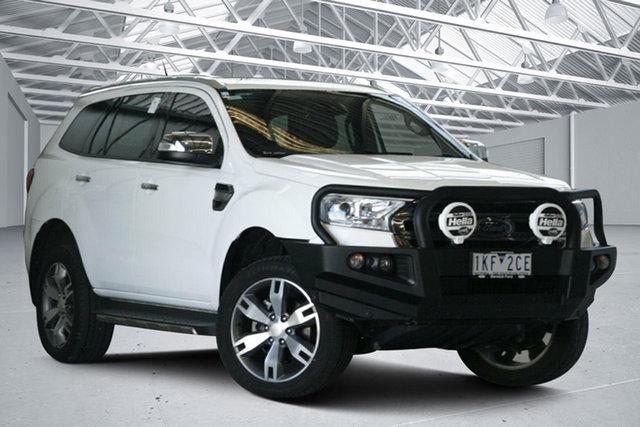 Used Ford Everest UA MY17 Titanium Altona North, 2017 Ford Everest UA MY17 Titanium Arctic White 6 Speed Automatic SUV