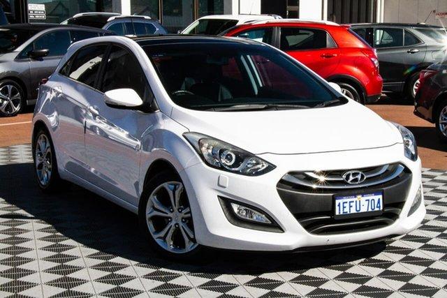 Used Hyundai i30 GD Premium Attadale, 2013 Hyundai i30 GD Premium White 6 Speed Sports Automatic Hatchback