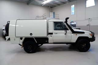2014 Toyota Landcruiser VDJ79R MY13 Workmate White 5 Speed Manual Cab Chassis