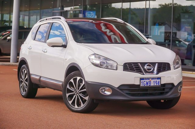 Used Nissan Dualis J10W Series 3 MY12 Ti-L X-tronic AWD Gosnells, 2012 Nissan Dualis J10W Series 3 MY12 Ti-L X-tronic AWD White 6 Speed Constant Variable Hatchback