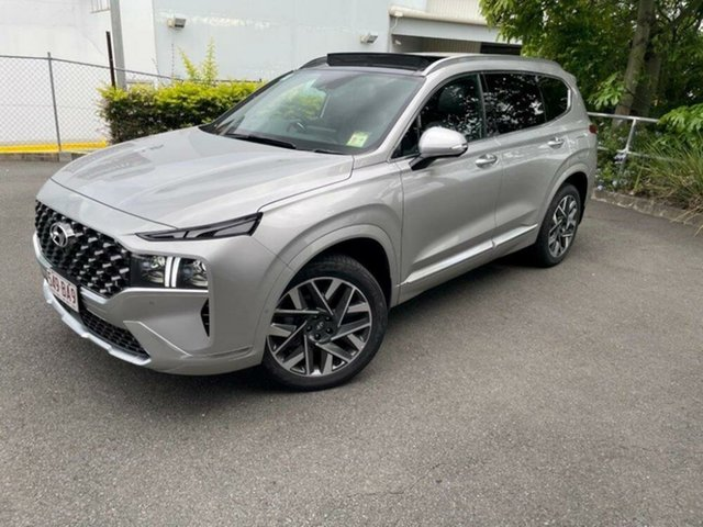 New Hyundai Santa Fe Tm.v3 MY21 Highlander DCT Springwood, 2020 Hyundai Santa Fe Tm.v3 MY21 Highlander DCT Typhoon Silver 8 Speed Sports Automatic Dual Clutch